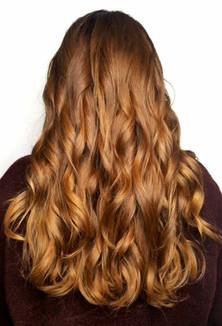 Copper curly hair