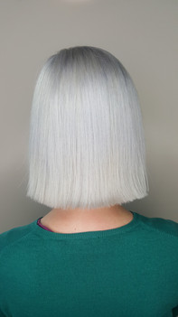 Ice blonde bob