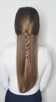 Brunette long hair