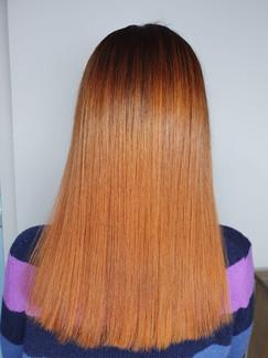 Copper long hair