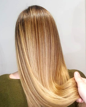 Sandy blonde back2back
