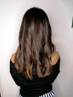 Long chocolate hair
