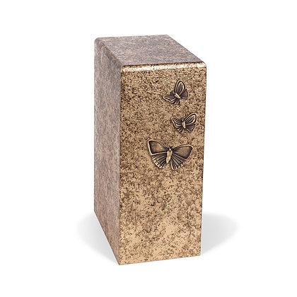 Brass cremation urn with Butterflies