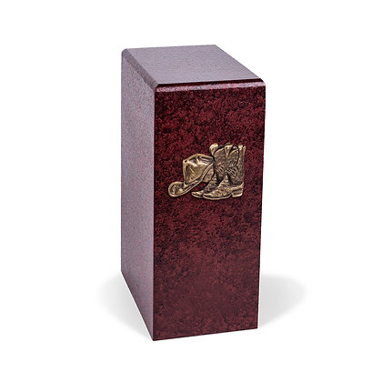 Western country cremation urn with Butterflies