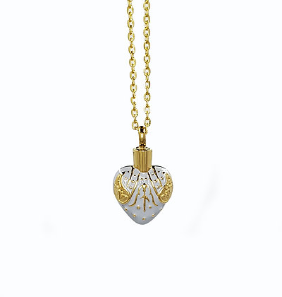 Gold Heart necklace for ashes