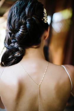 bridal hair braid brunette
