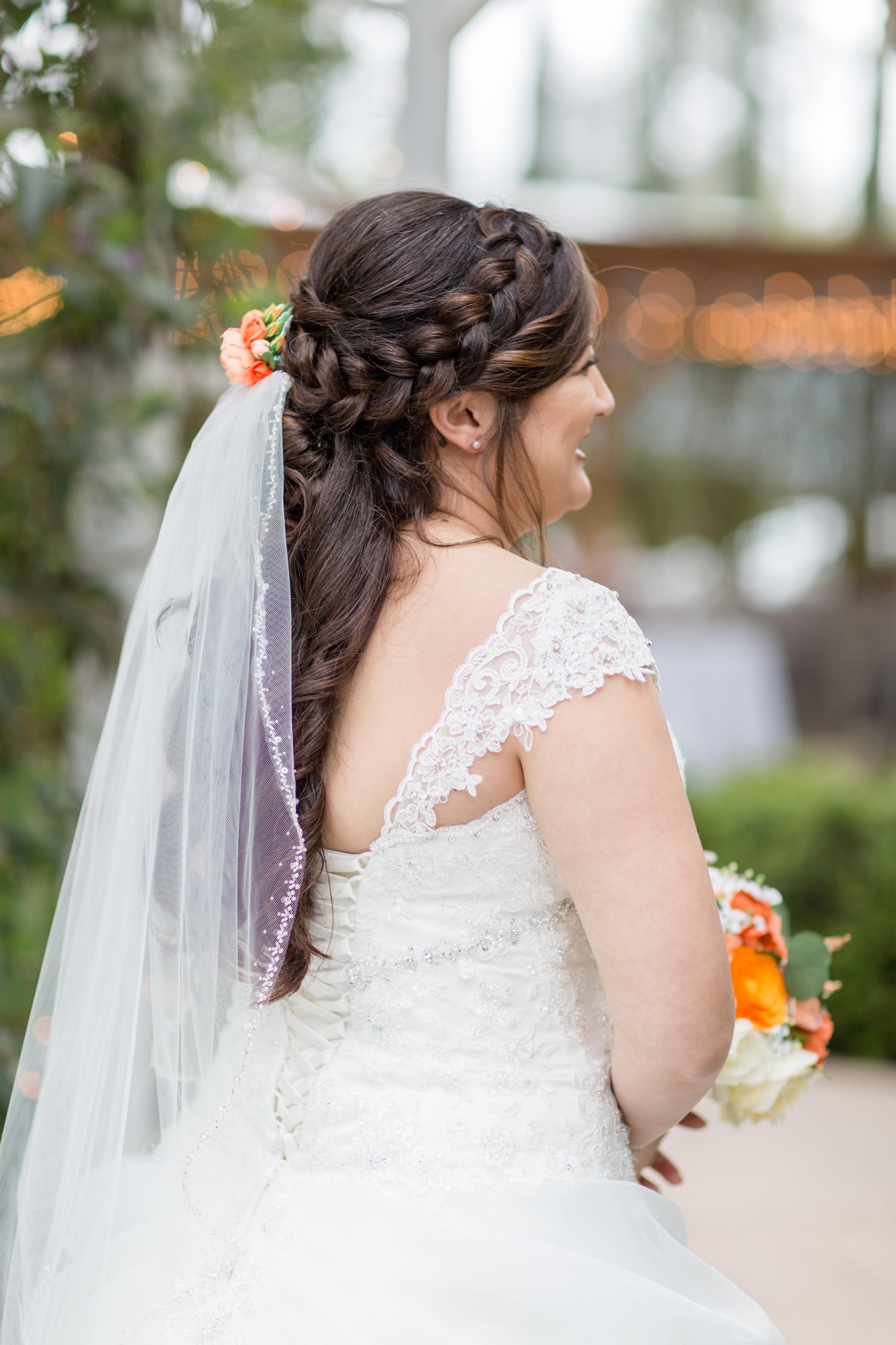long hair wedding style
