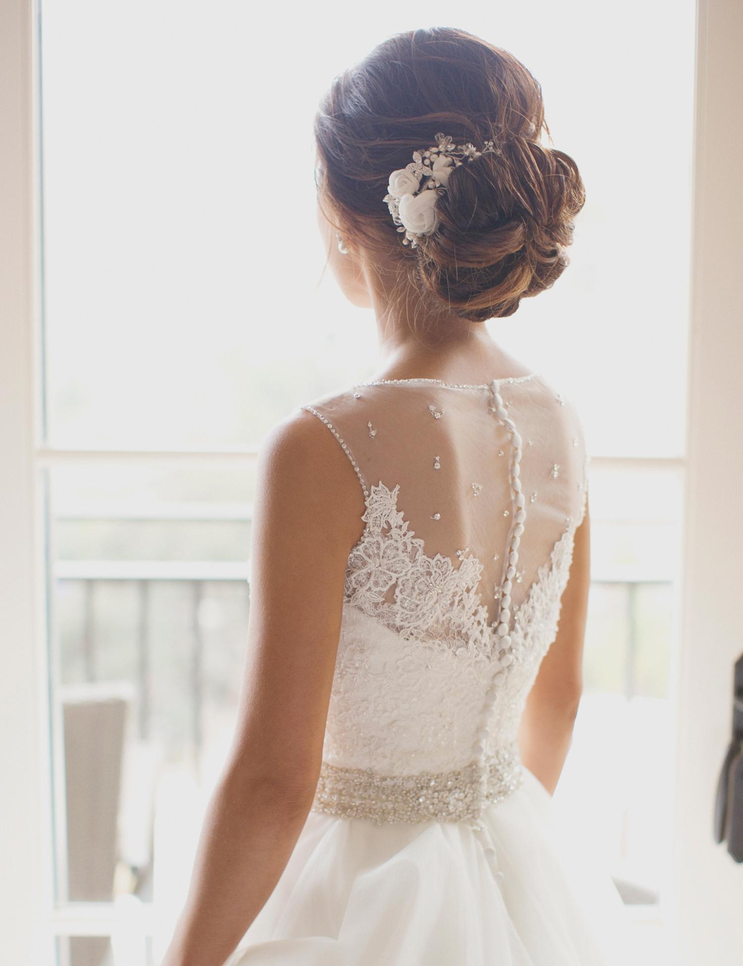 chignon bridal hair updo