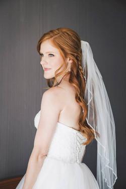 redhead bride red hair braid