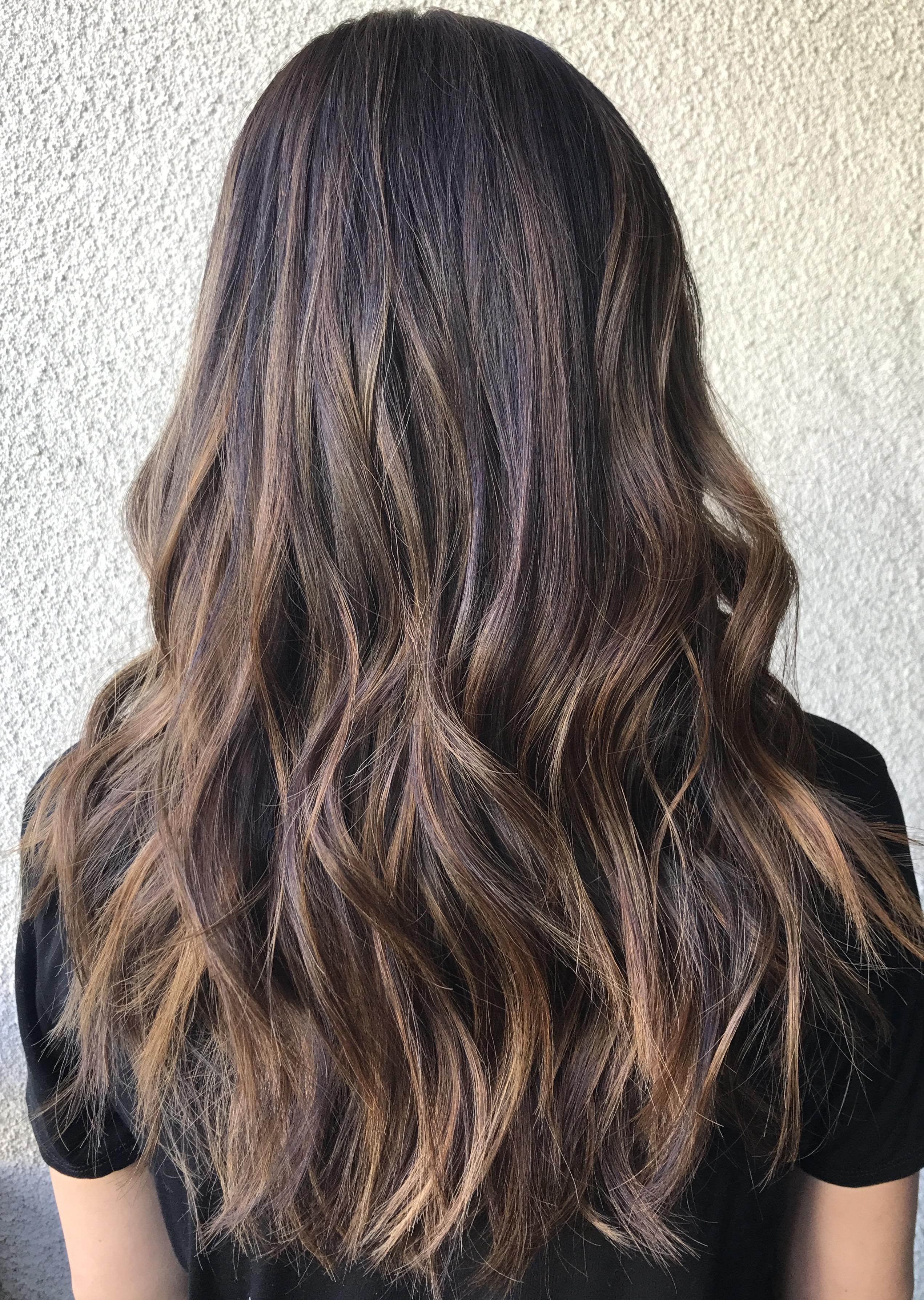 chestnut balayage hair color