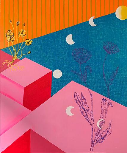 Luísa  Prestes Pintura Calêndula Acrílica sobre tela 120 x 100 cm 2020