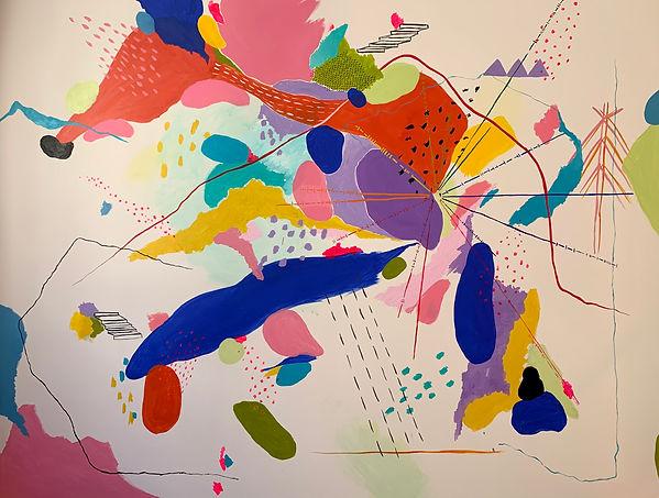 Luísa Prestes. Pintura. Sem título Acrílica sobre tela 210 x 160 cm 2020