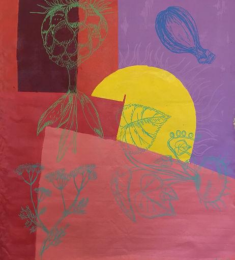 Luísa Prestes Pintura Sol Acrílica sobre tela 140 x 140 cm 2019