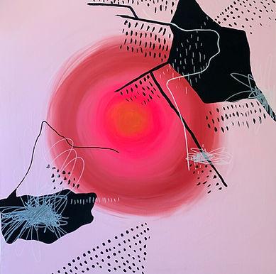 Luísa Prestes. Vigília Acrílica sobre tela 75 x 75 cm 2021