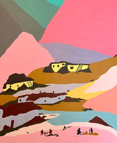 Luísa Prestes. Pintura. Zanskar Acrílica sobre tela 71 x 87 cm 2021
