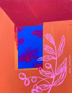 Luísa Prestes Pintura Oliveira Acrílica sobre tela 30 x 40 cm 2019