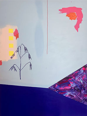 Luísa  Prestes Pintura Sem título Acrílica sobre tela 70 x 100 cm 2020