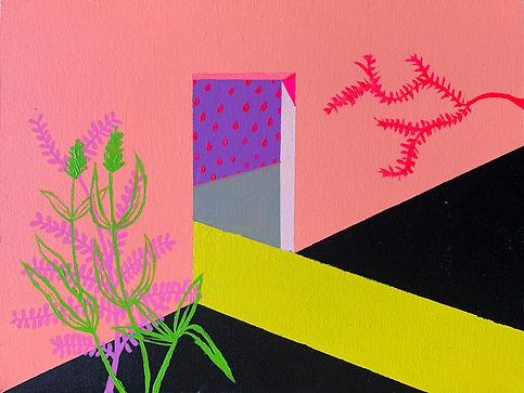 Luisa Prestes Pintura Limiar Acrílica sobre tela 40 x 30 cm 2019