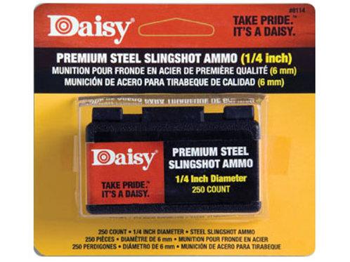 "Daisy 1/4"" Powerline Premium Steel Slingshot, 250ct"
