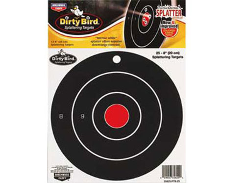 "Birchwood Casey Dirty Bird Bullseye, 8"" Round"