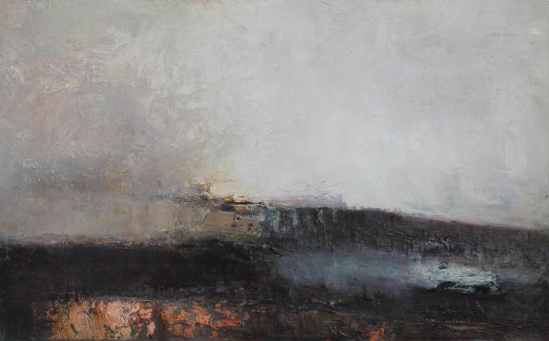 Causeway | oil on canvas | 46x75cm