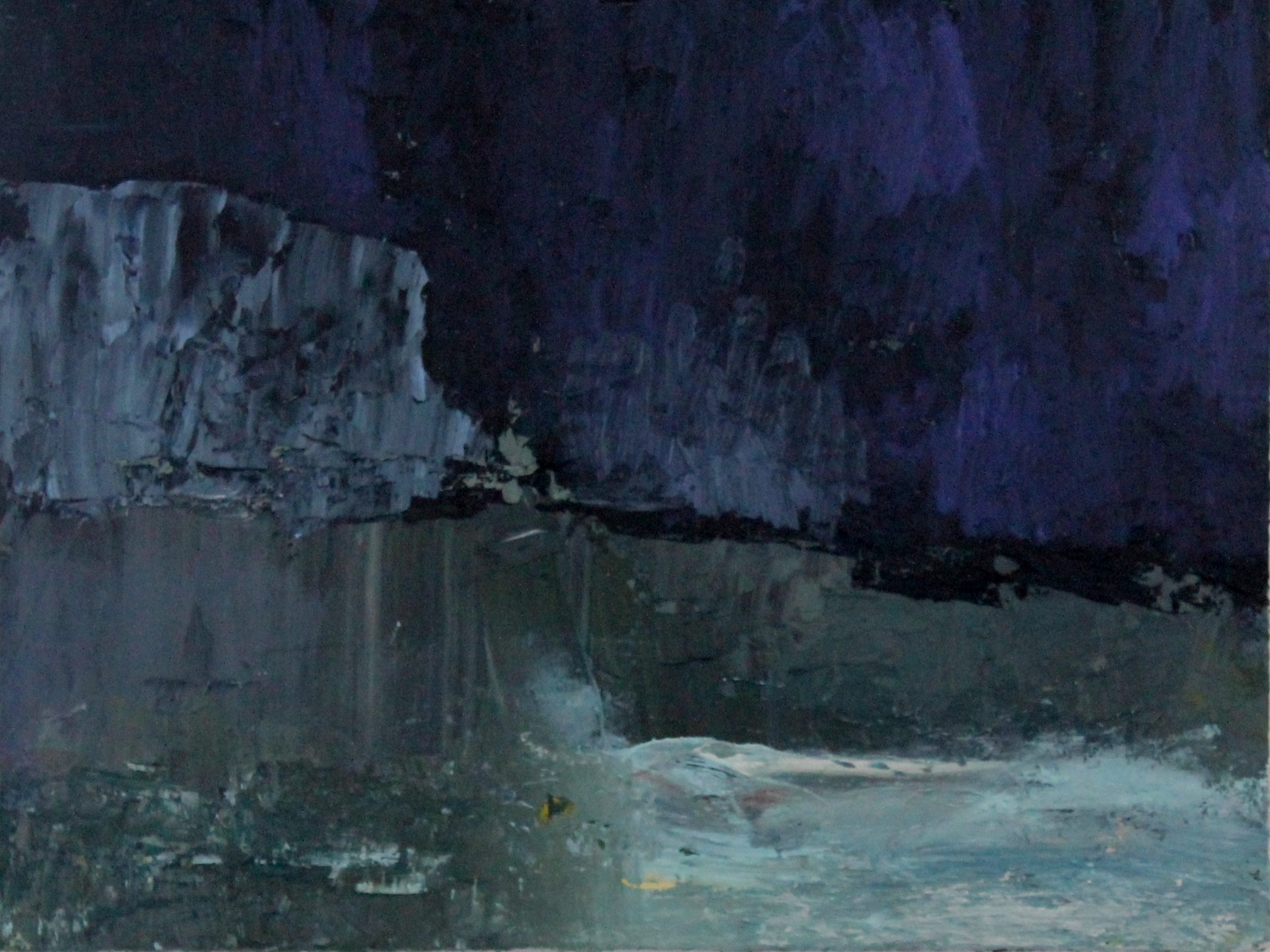 Ice Field iv   oil on canvas   40x60cm