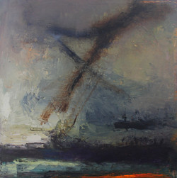 Solent Storm | oil on canvas | 60x60