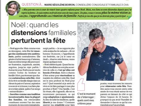 """Noël: Quand les distensions familiales perturbent la fête. Article paru dans """"La France Agricole"""""""