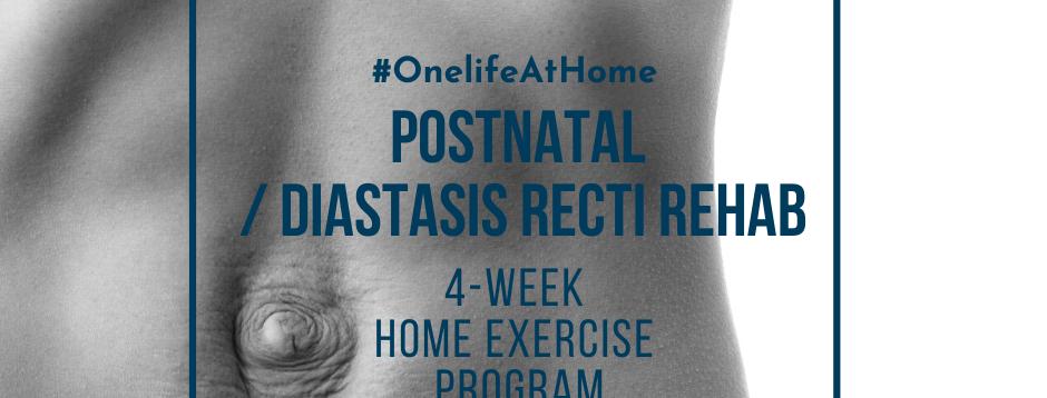 4-WEEK DIASTASIS RECTI HOME PROGRAM