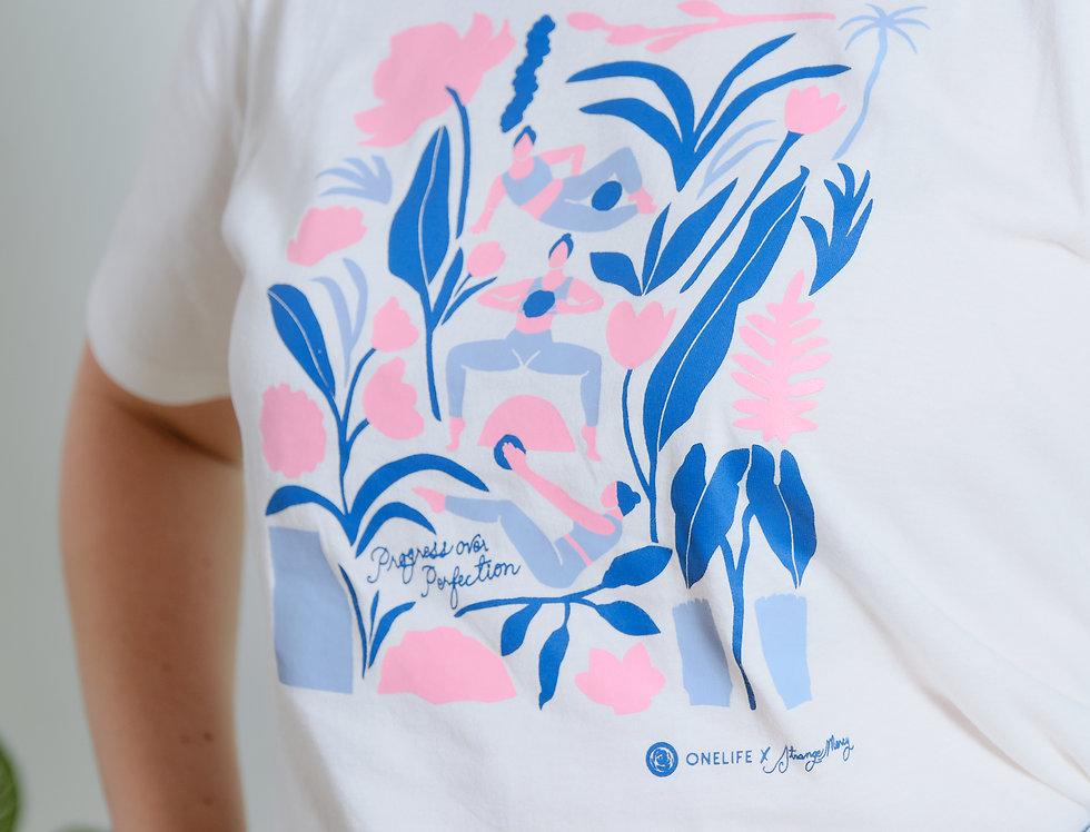 ONELIFE x Strange Mercy Shirt (Navy/Pink)