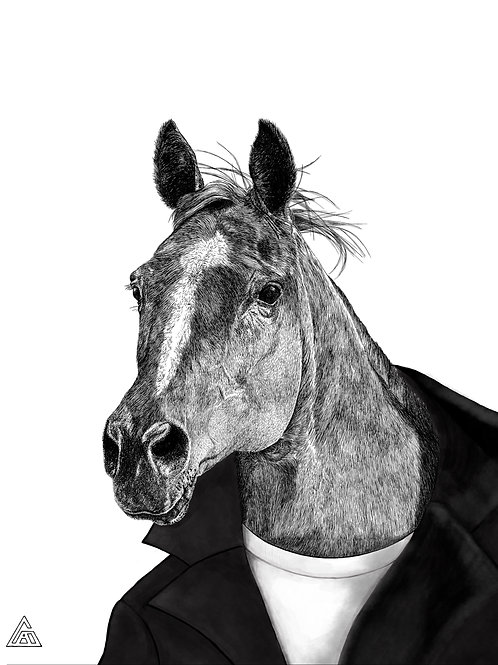 Horse in a Jacket Print