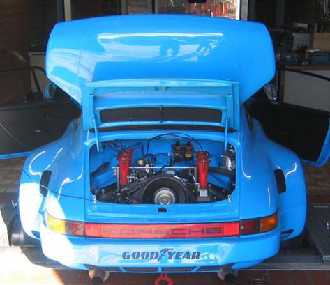 Prüfstandlauf Porsche 911 RSR