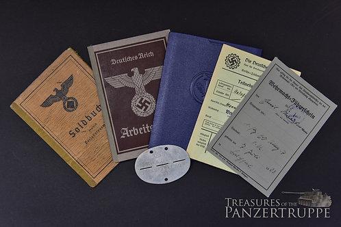 s.Pz.Abt. 501 Soldbuch and Docs to Emil Mannsmann