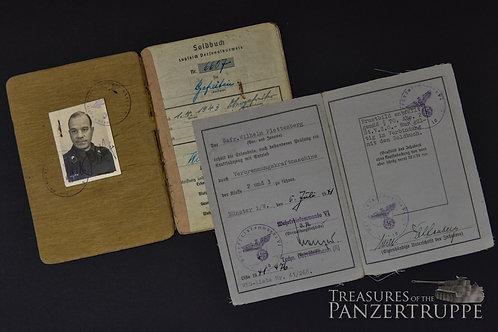 Pz.Regt. 2 Soldbuch/Driver license W. Plettenberg