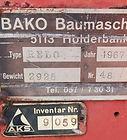 Bako Betonumschlaggerät Typenschild