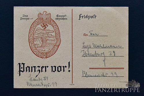 Panzer vor! Postcard