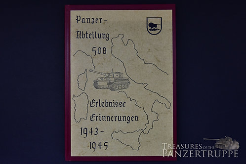 s.Pz.Abt. 508 chronicle with sign. of K. Hirlinger