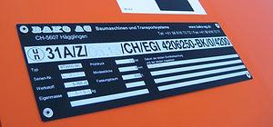 Bako IBC Typenschil