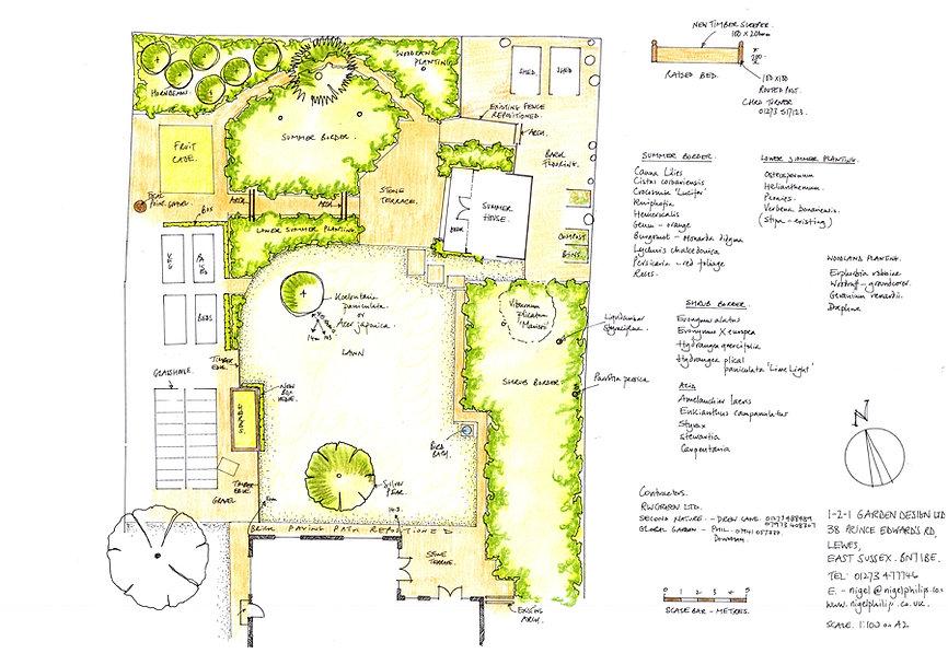 1-2-1 Garden Design Drawing