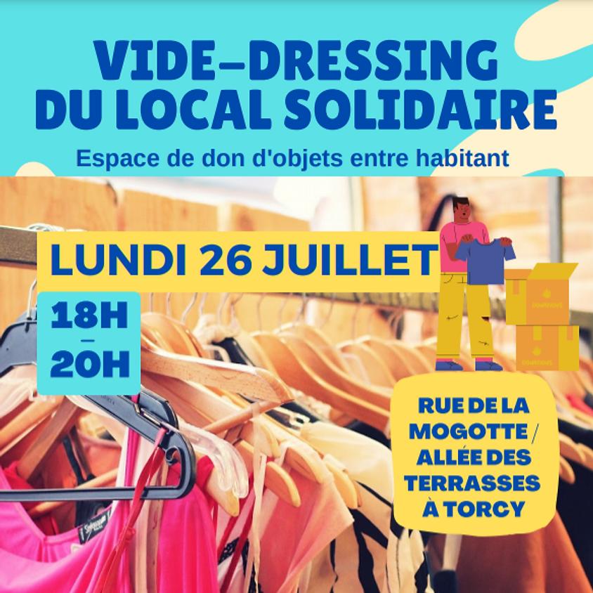 Grand vide dressing au local solidaire à Torcy