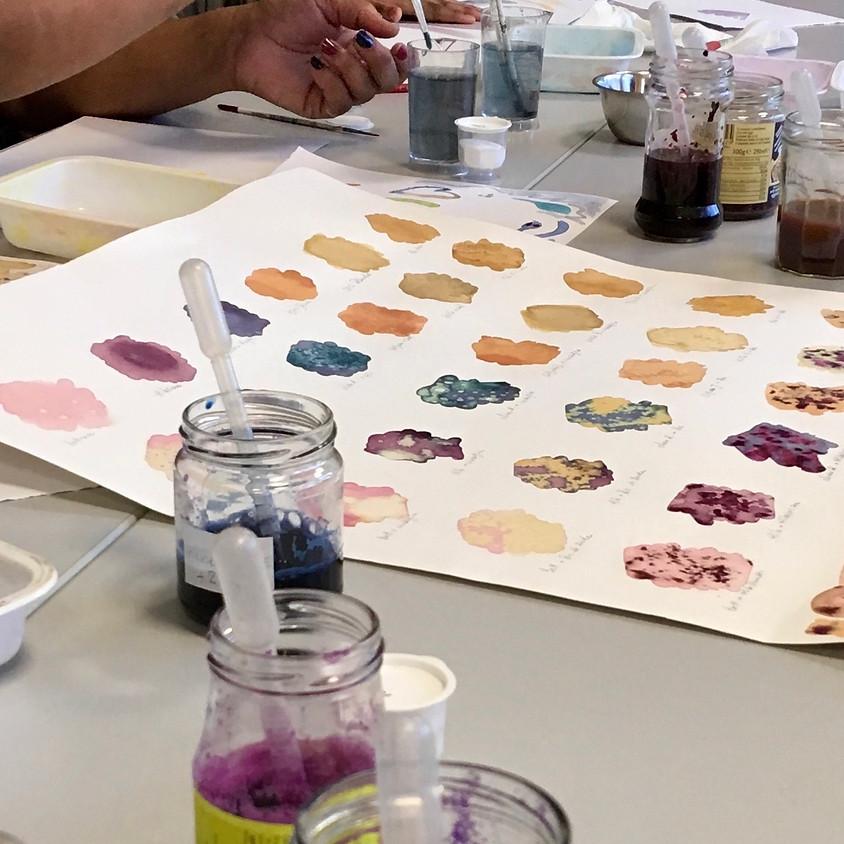 """Atelier """"Peindre avec une gouache faite maison""""  pour adultes et ados ( à partir de 13 ans)  (1)"""