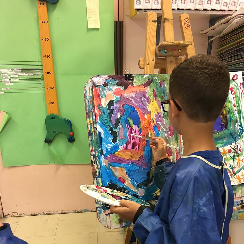 """Atelier Enfant """" Peindre sur chevalet """""""
