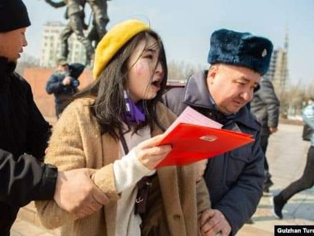 Районный и городской суд г.Бишкек признал законными действия милиции на марше за права женщин 8 март