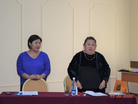 При поддержке ЦПЗПЧ «Кылым шамы» с 13 по 15 сентября 2020 года УЦА провел тренинг для адво