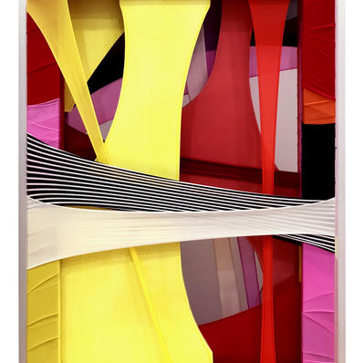 Morning Glory,fabric,ceramic,frames,acrylic,42.5(w)x62.5(h)x9.5(d)cm,2020