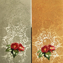 taste for the arts-The camelia blossoms bloom1 & 2, 2018