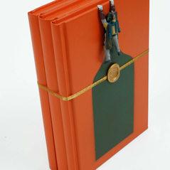 Three books-Orange
