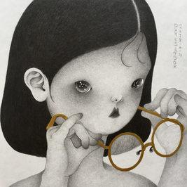 안경소녀 a girl with glasses_SOLD
