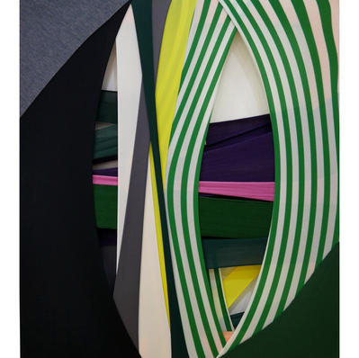 FabricDrawing#96(G),fabric,frame,53x45.5cm,2020