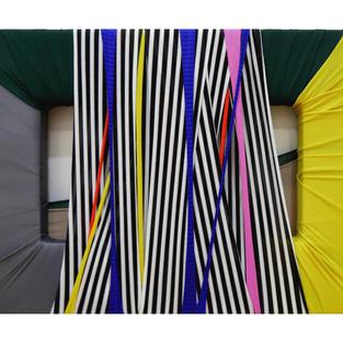 FabricDrawing#92,fabric,frame,27.3x16cm,2020